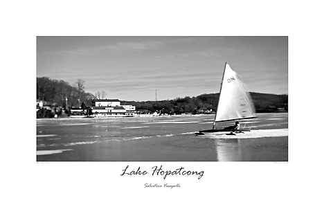 Ice Boat At Jefferson House Lake Hopatcong New Jersey By Salvatore